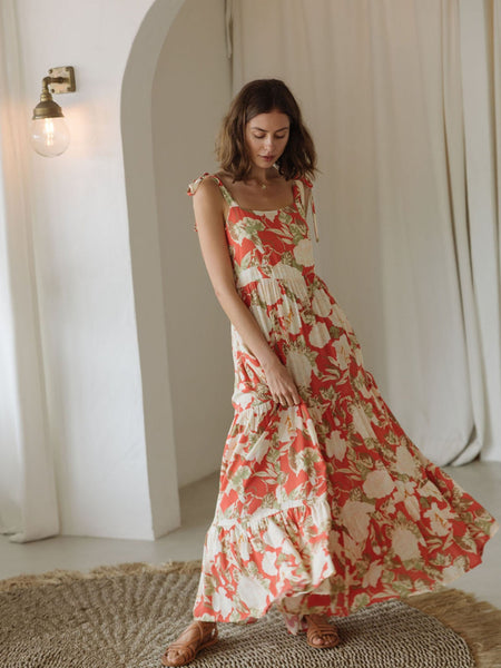 Kivari Helena Strappy Maxi Dress