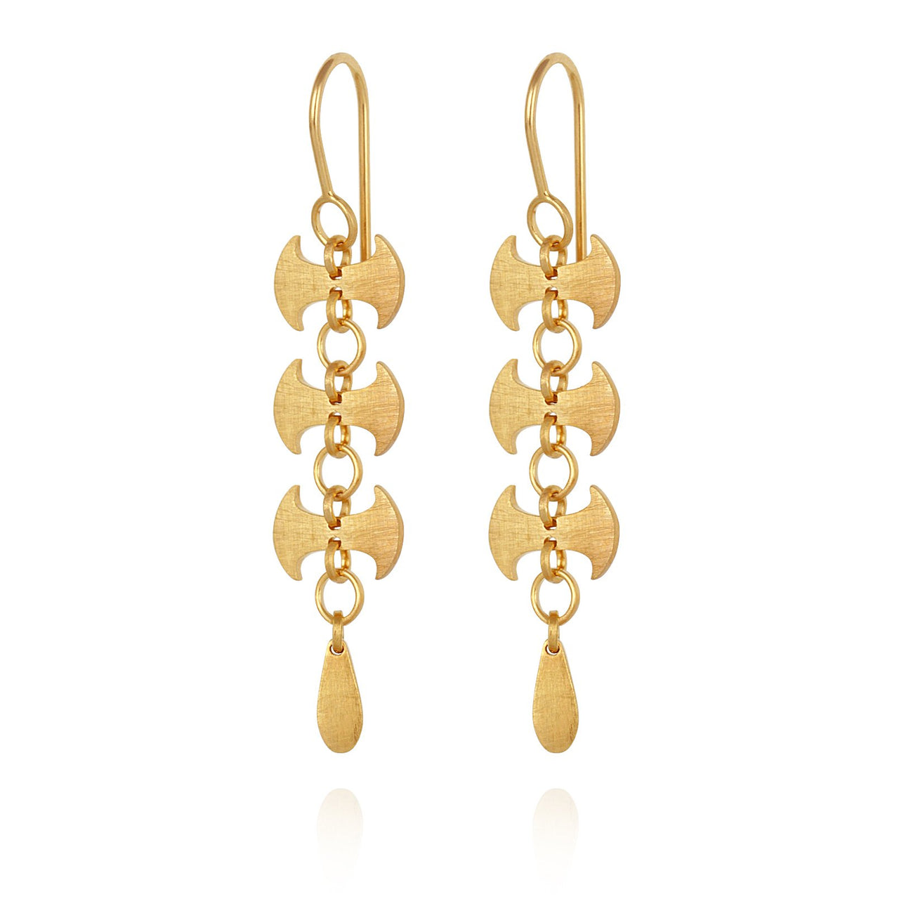 Temple of The Sun Labrys Earrings - Gold