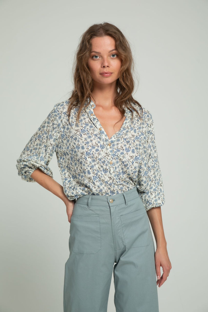 Lilya Agatha Blouse - Indian Blues