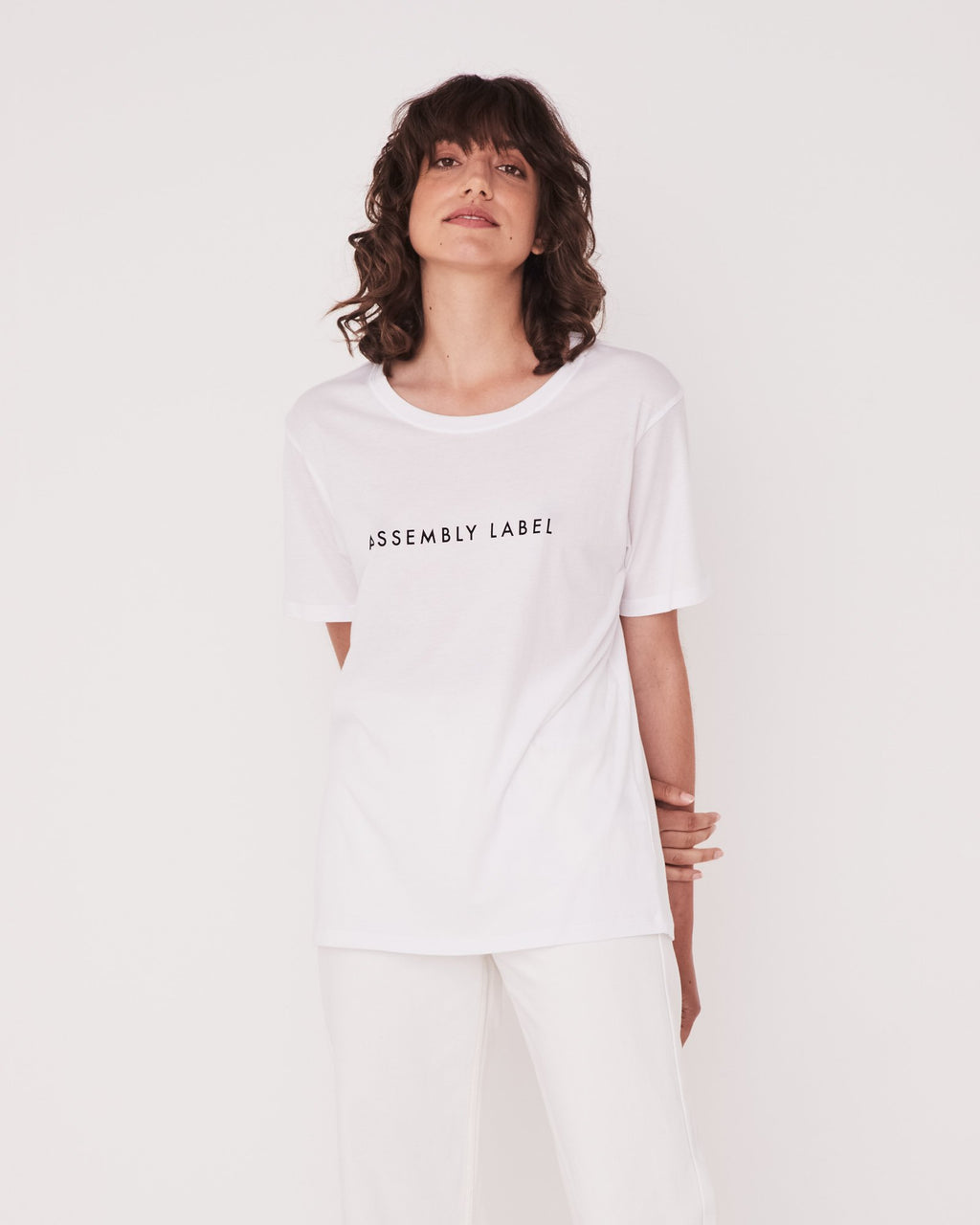 Assembly Label Logo Cotton Crew Tee - Various Colours