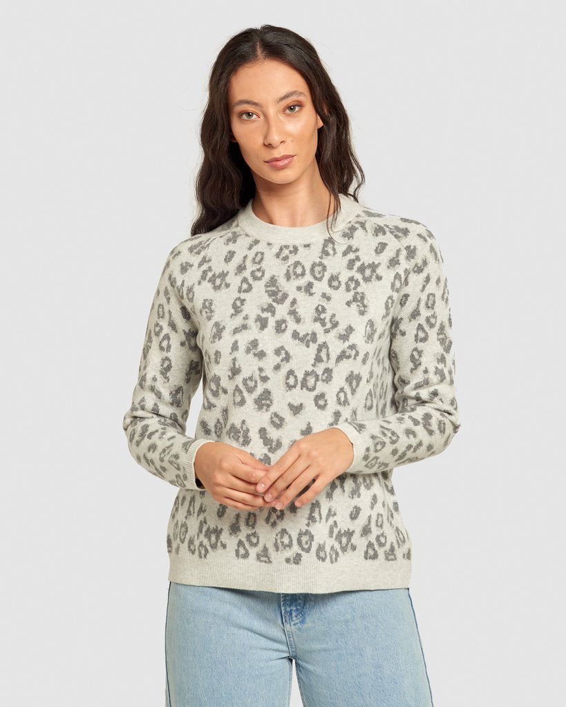 Maxted Animal Pullover - Light Grey Neutral
