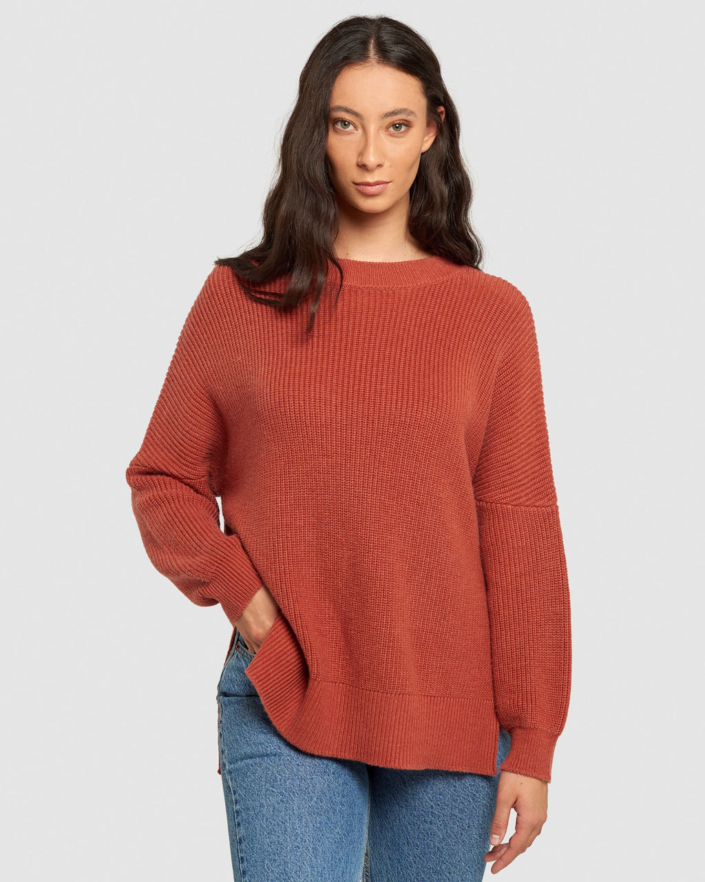 Maxted Seven Pullover - Terracotta