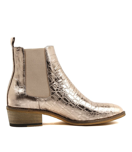 Mollini Zallas - Rose Gold Croc Leather
