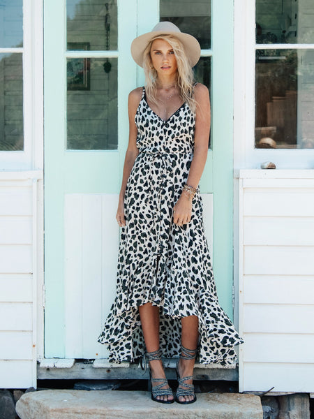 Kivari Nevada Leopard Maxi Dress - Leopard