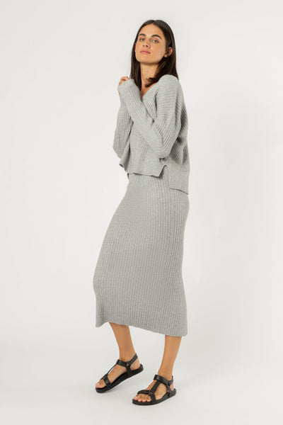 Nude Lucy Dylan Knit Skirt - Grey Marle