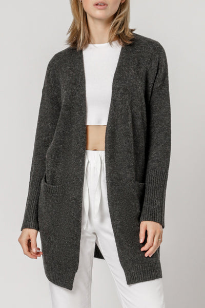 Nude Lucy Avery Cardigan - Charcoal Marle