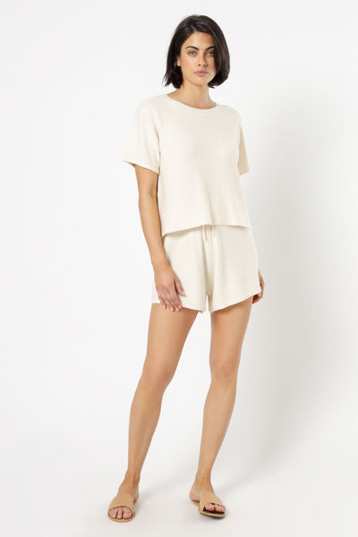 Nude Lucy Coops Knitted Shorts - Cream