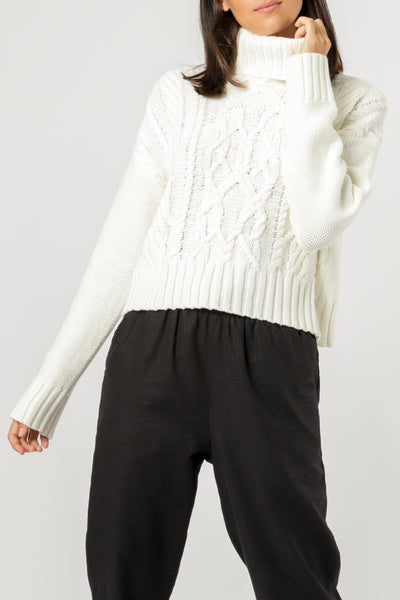 Nude Lucy Dorian Cable Knit - Off White