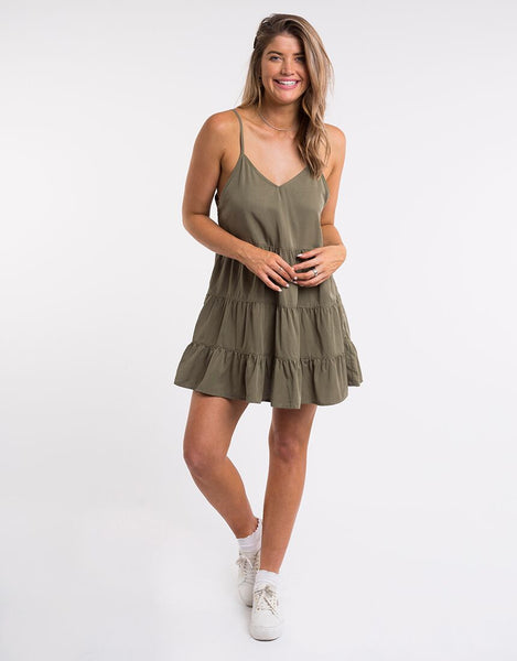 All About Eve Bondi Dress - Khaki