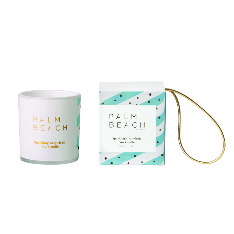 Palm Beach Mini Candle Hanging Bauble - Sparkling Grapefruit