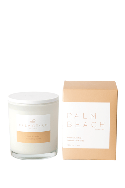 Palm Beach Standard Candle - Lillies & Leather