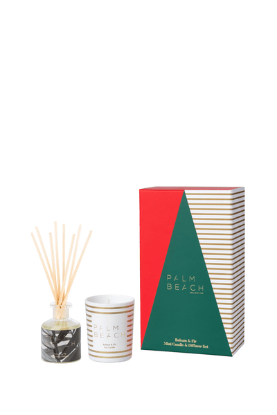 Palm Beach Christmas Mini Candle & Diffuser Pack - Balsam & Fir