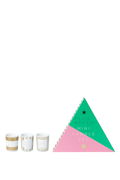 Palm Beach  Christmas Mini Candle Trio Pack