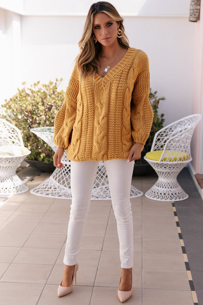 SNDYS The Label - Que Knit Top - Mustard