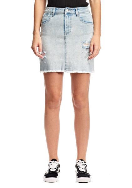 Res Denim Rebel Skirt - Arctic