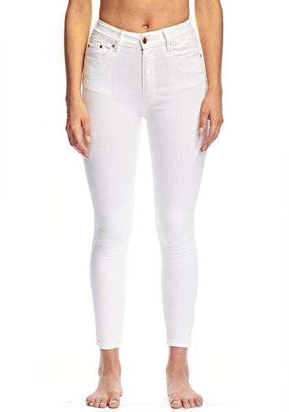 Res Denim Harry Hi Crop Whisper White