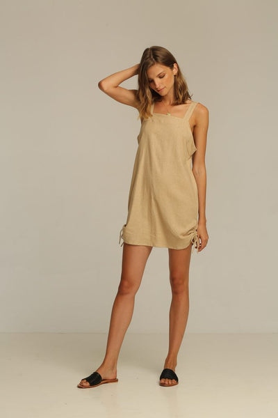 Rue Stiic Brady Mini Dress - New Sand