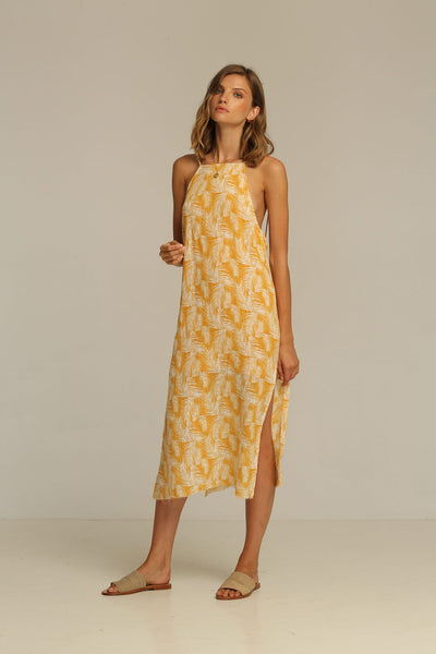 Rue Stiic Rita Midi Dress - Honey Palm