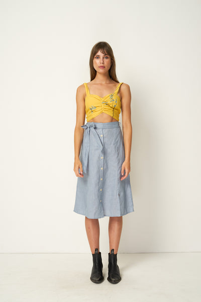 Rue Stiic Siegel Skirt - Powder Blue