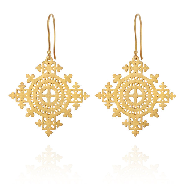 Temple of The Sun Sami Earrings - Gold