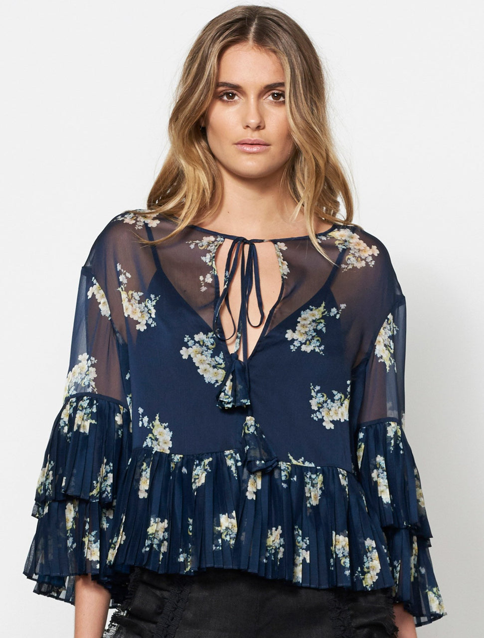Stevie May Midnight Blooms L/S Top