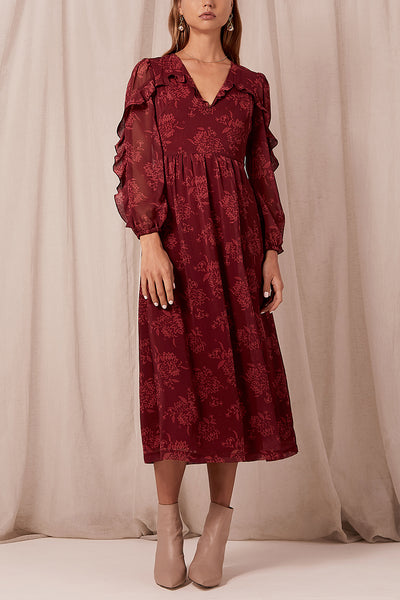 Steele Sahara Midi Dress - Pinot