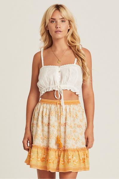 Arnhem Lily Mini Skirt - Lemon Drop