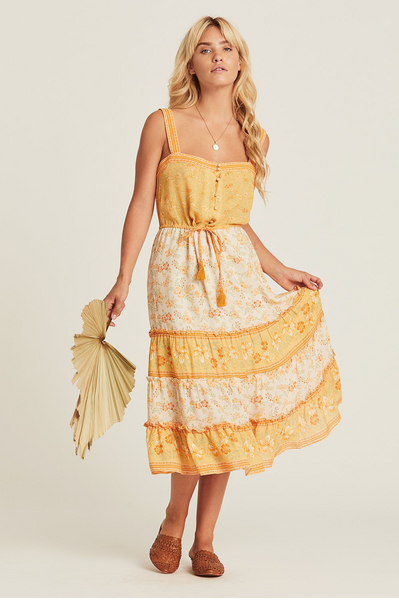 Arnhem Lily Sundress - Lemon Drop