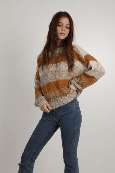 Lilya Anisa Knit Jumper - Mustard Mix
