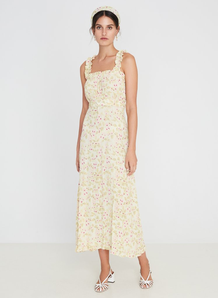 Faithfull Saint Tropez Midi Dress - Adele Floral Print