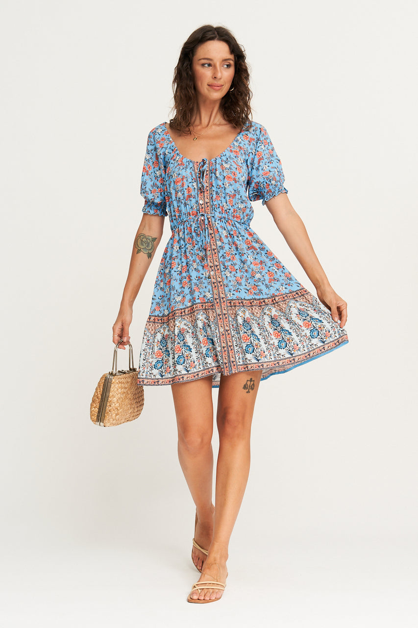 Arnhem Honey Mini Dress - Poolside
