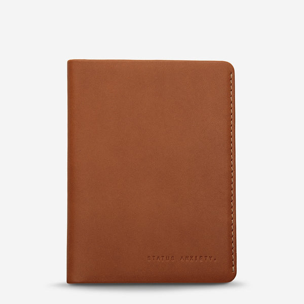 Status Anxiety Conquest Passport Wallet - Camel