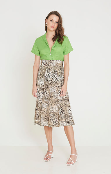 Faithfull Luda Midi Skirt - Signe Animal Print