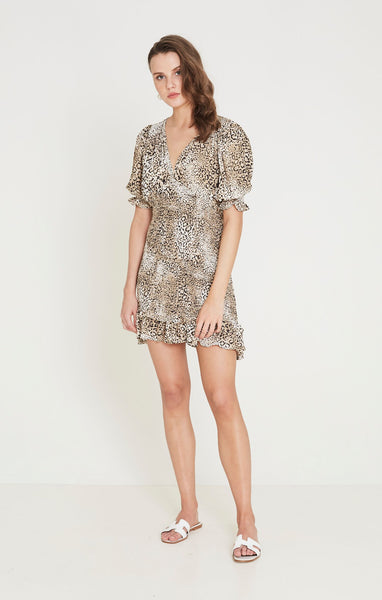 Faithfull Margherita Mini Dress - Signe Animal Print