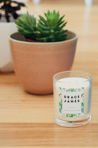 Grace and James Botanical Series Candle- Succulent