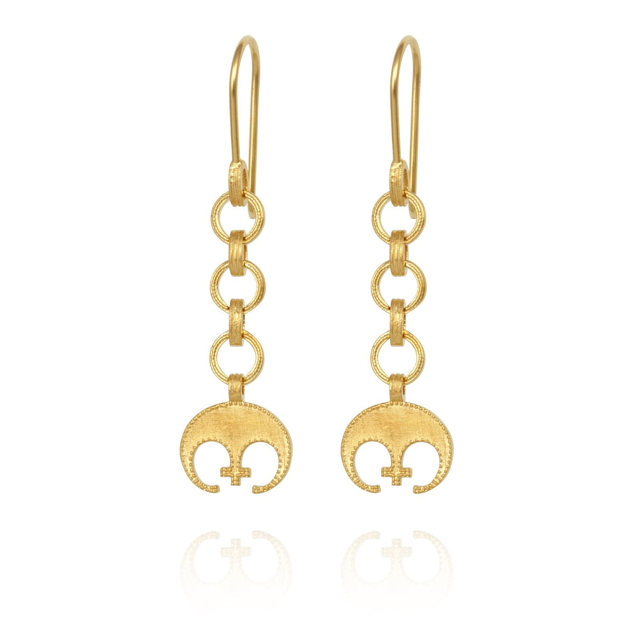 Temple of The Sun Timo Earrings - Gold