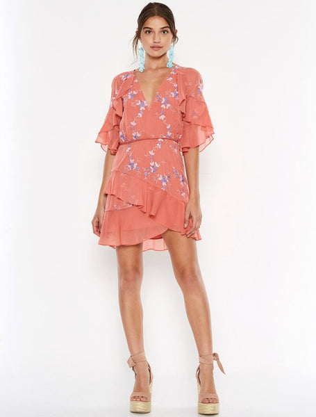 Talulah Sonder Mini Dress - Melon Multi