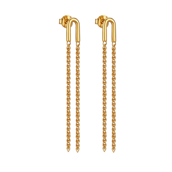 Temple Of The Sun Asa Earring- Gold