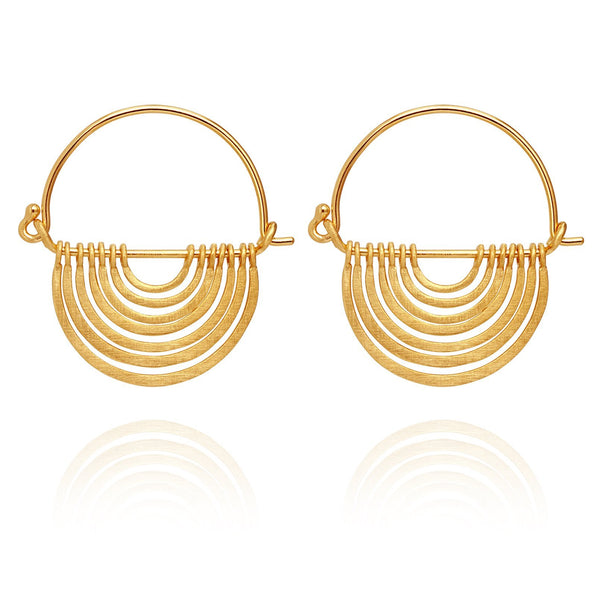 Temple Of The Sun Baye Earrings - Gold