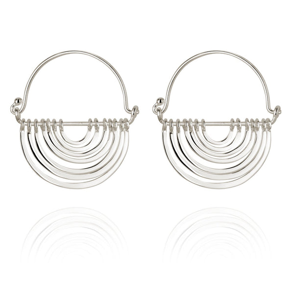 Temple Of The Sun Baye Earrings - Silver