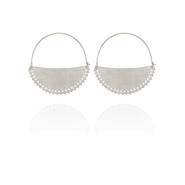 Temple Of The Sun Klio Earrings Small - Silver