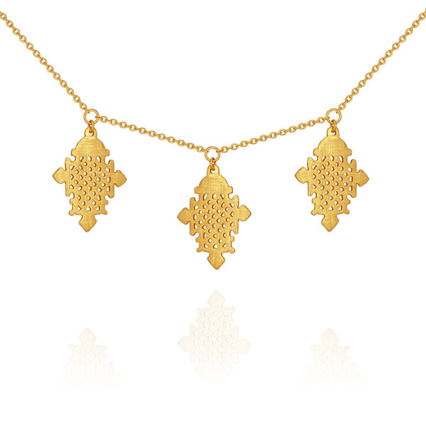 Temple Of The Sun Silva Necklace - Gold
