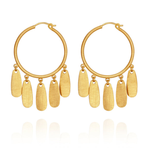 Temple Of The Sun Zara Earrings - Gold