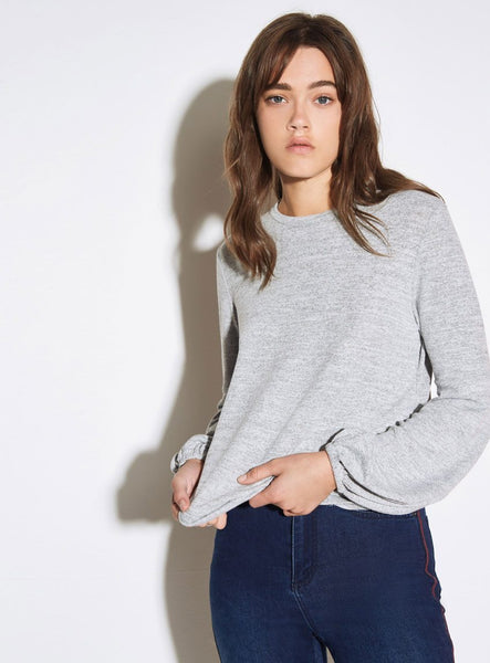 The Fifth Lily LS Top- Grey Marle