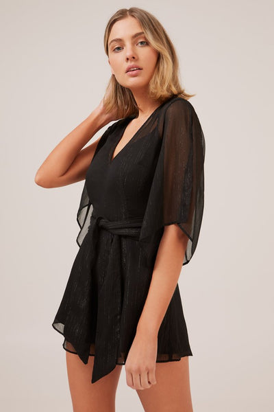 The Fifth Treasure Playsuit - Black