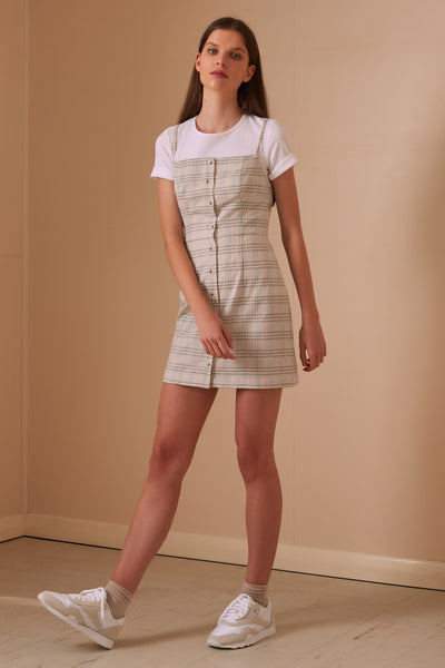 The Fifth Violet Check Dress - Sand