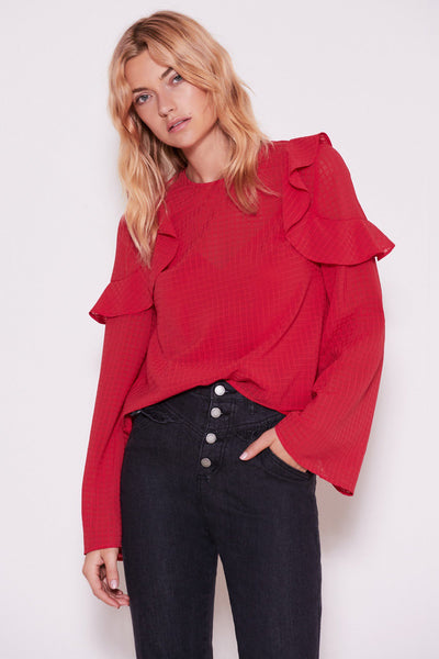 The Fifth Window L/S Top - Berry