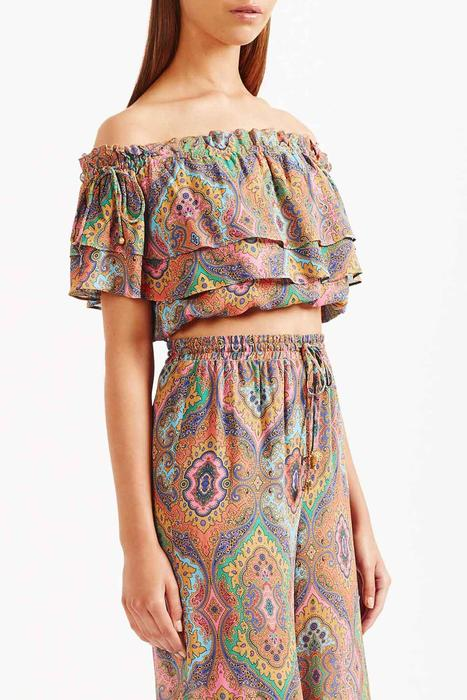 Tigerlily Delon Frill Top - Multi