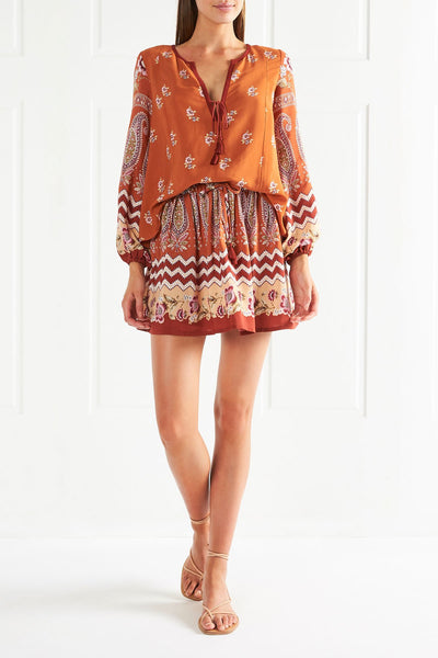 Tigerlily Heloise Mini Skirt - Rust