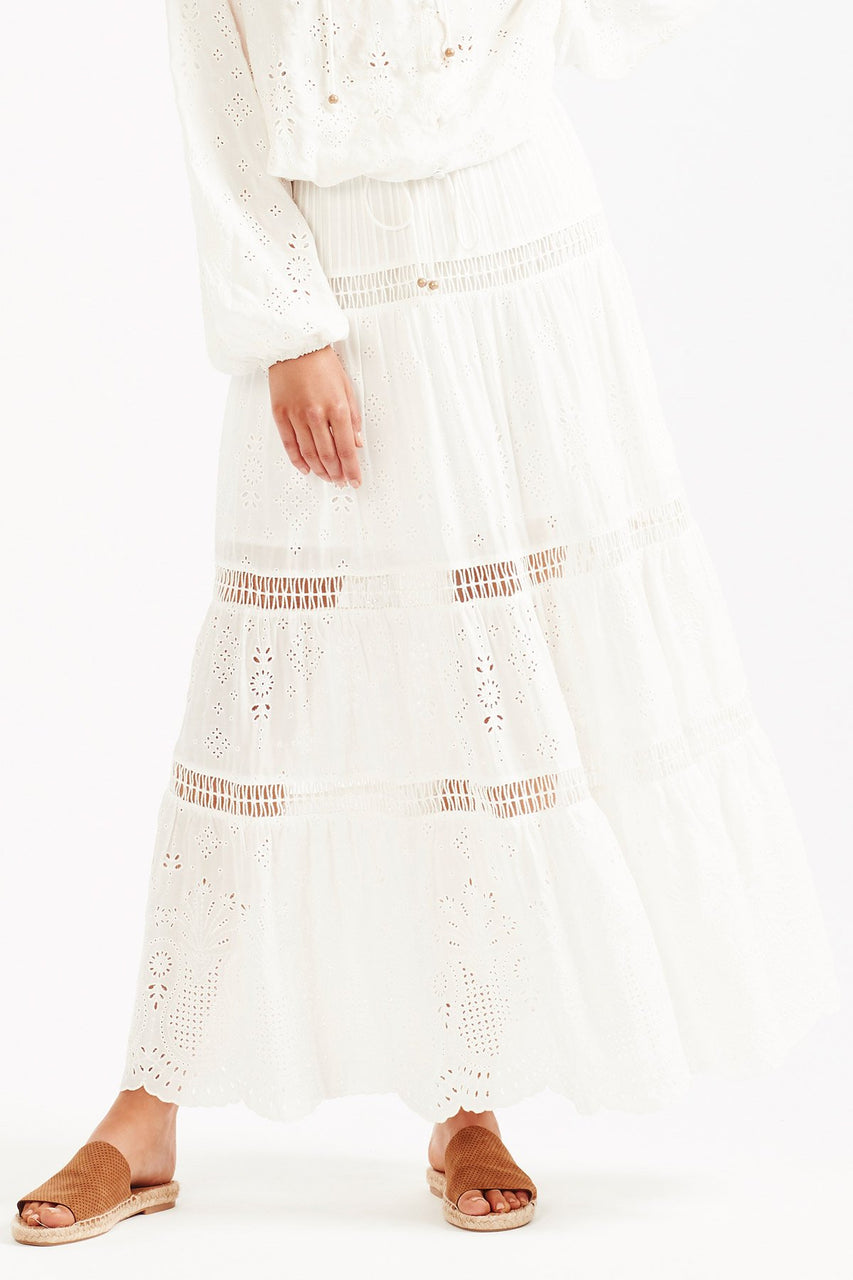 Tigerlily Xanthe Maxi Skirt - White